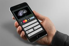 Bankkártyás fizetés design Mobil verzió