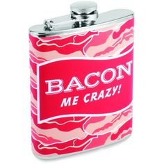 Bacon Me Crazy! Flask  #YouKnowYouWantIt #UnusualGifts #karmakiss #allgiftythings #UniqueGifts