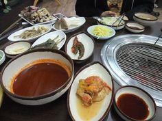 Jang-eo Gui or Grilled Eel at Deorimi Jangeochon in Ganghwa island, Korea