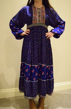 Vintage 1970s Afghan Dress Gypsy Festival by Beyondthevintage