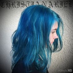 turquoise hair by Christian Ariel at iStyle XG