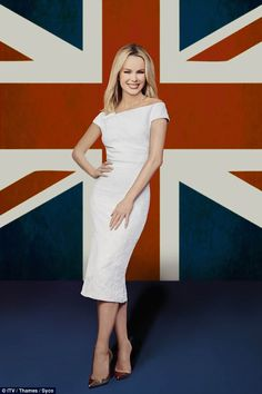 BGT return: Amanda Holden reveals Simon Cowell is mellowing in his old age - and it's unnerving her - as she talks about Mr Nasty's nice side on the new series of Britain's Got Talent Amanda Holden, Tight Dresses, Cute Dresses, Bbc Presenters, Britain's Got Talent, Tv Girls, Denise Richards, Blonde Women, Sexy Older Women
