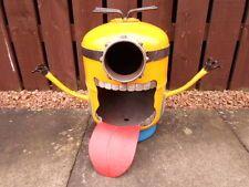 "Despicable Me Minion""BOB"" Gas bottle Log/Wood Burner/Hand Made/Fire Pit/Patio"