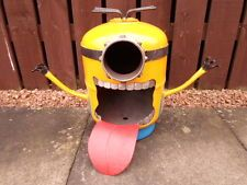 "Despicable Me Minion""BOB"" Gas bottle Log/Wood Burner/Hand Made/Fire Pit/Patio"