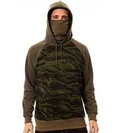 The Kato Ninja Hoodie in Tiger Stripe Camo French Terry
