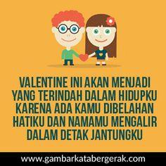 Gambar kata bergerak ucapan selamat valentine romantis