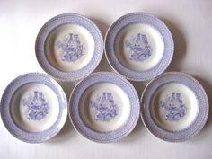 Danish antique 1860s faience soup plate Aluminia, Alexandra