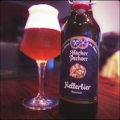 Hacker Pschorr Kellerbier #beerblog ##beerstagram #beerlovers #cellarbeer #bavarianbeer #hackerpschorr