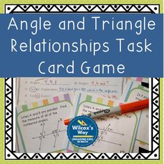 Parallel lines cut by a transversal freebie students will be able angle and triangle relationship task card activity game fandeluxe Gallery