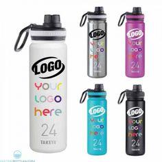 ac0b57992d 24 oz Takeya® Thermal Insulated Bottle #premium #waterbottles Custom Water  Bottles, Shaker