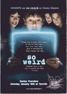 """Disney Channel's """"So Weird"""" - Late - kids throwback! Loved the paranormal show for kids! Kids Tv, 90s Kids, Childhood Movies, Childhood Days, Old Disney, Disney Shows, 90s Nostalgia, Tv Guide, The Good Old Days"""