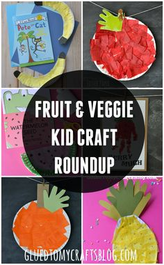 Fruit & Veggie Kid Craft Roundup From Glued To My Crafts - Today I'm sharing a roundup post chucked FULL of ALL the Fruit & Veggie themed kid crafts that - Preschool Food, Preschool Crafts, Crafts For Kids, Summer Crafts, March Crafts, Easy Crafts, Vegetable Crafts, Veggie Art, Fruit Crafts