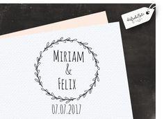 """Hochzeitsstempel ♥ Stempel zur Hochzeit """"Kränzc... von der frohe Bote auf DaWanda.com"""