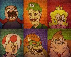 Mario Bros Rage Comics i dont like Luigi being sad though...