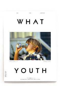 What Youth - Issue Six // magazine cover design *Liking the Layout and typography* Typography Layout, Graphic Design Typography, Web Design, Layout Design, Editorial Layout, Editorial Design, Photoshop, Logo Typo, Magazine Cover Layout