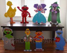 Sesame Street Pinata Sesame Street Birthday by SmashandPullPinata