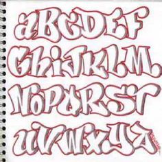 Design Sketch Graffiti Alphabet Letters A Z In The Paper Alphabets With Pink Color