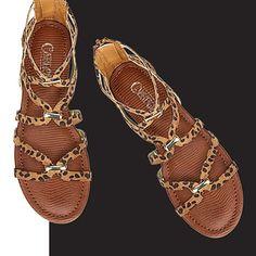 Carlos by Carlos Santana EMMA sandals. #leopardsandals #carlossantana #sandalseason #gladiatorsandals #springstyle #strappysandals