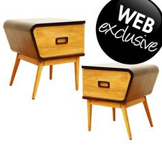 Retro Collection Bed Side Tables