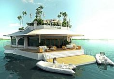 $4,600,000 luxury super yacht called the Osros Island  I want to be friends with whoever owns this