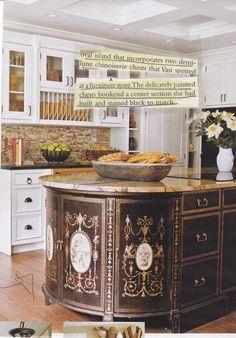 innovative use of furniture to make kitchen island
