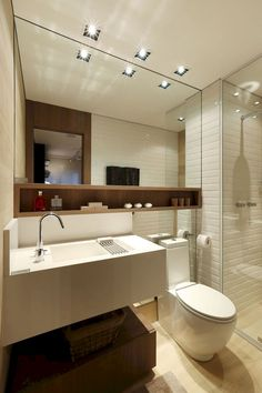 Tiny house bathroom - Looking for small bathroom ideas? Take a look at our pick of the best small bathroom design ideas to inspire you before you start redecorating. Bathroom Toilets, Bathroom Renos, Bathroom Layout, Bathroom Interior Design, Modern Bathroom, Bathroom Storage, Bathroom Ideas, Small Bathrooms, Bathroom Furniture