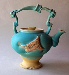 Blue Teapot by lawatson on Etsy, $195.00    Wow...amazing pottery in this shop, it was hard to pick just one:)