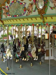 Six Flags Magic Mountain Grand Carousel! Tiffany's relaxation ride!  http://www.extendedqueue.com/