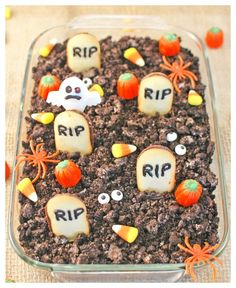 Halloween Graveyard Cheesecake Dip