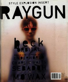 Beck's RAYGUN magazine cover, designed by David Carson. David Carson is lauded for his creative and innovative typographic design. His influence is seen throughout many works today, from graphic designs to magazine designs, to album covers. Bühnen Design, Book Design, Print Design, Print Print, Flyer Design, Design Graphique, Art Graphique, Editorial Layout, Editorial Design