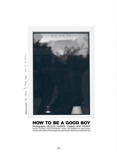"""Tom Barker in """"How To Be A Good Boy - Lessons"""" by Cecilie Harris for Boys by Girls Magazine October 2013"""