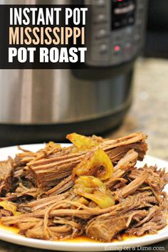 This Mississippi Pot Roast Pressure Cooker Recipe is amazing! Super easy and this is such a quick and easy Instant Pot recipe.