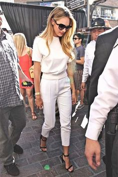 {fashion | summer style inspiration : white on white} | Flickr - Photo Sharing!