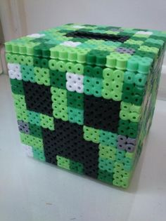 Minecraft Inspired Creeper Coin Bank hama beads by Elfain on Etsy Hama Minecraft, Minecraft Pattern, Minecraft Party, Creeper Minecraft, Minecraft Room, Hama Beads Design, Hama Beads Patterns, Beading Patterns, Fun Crafts For Kids