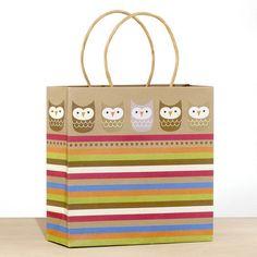 One of my favorite discoveries at WorldMarket.com: Kraft Border Owls Medium Gift Bag