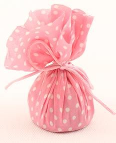 Pink and White Polka Dot Balloon Weight