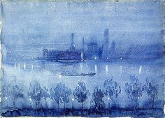 blue night, london.. Joseph Pennell