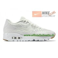 quality design c4637 6d7e8 ... Nike Air Max 90 Ultra BR Chaussures Nike Pas Cher Pour Homme Blanc  725222-100 ...
