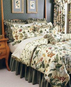 "Williamsburg by Waverly. Comforter 92 x ""Garden Images"". Full Comforter Sets, Bedding Sets, Floral Comforter, Bedroom Green, Home Bedroom, Bedroom Ideas, Master Bedrooms, Master Suite, Home Garden Images"