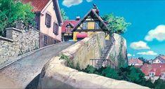 "ghibli-collector: ""More Art of Kiki's Delivery Service - Dir Hayao Miyazaki "" Kiki Delivery, Kiki's Delivery Service, Studio Ghibli Art, Studio Ghibli Movies, Seaside Towns, 6 Photos, Hayao Miyazaki, Anime Scenery, Animal Crossing"