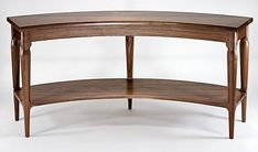 Gary Weeks Curved Walnut Entry Table