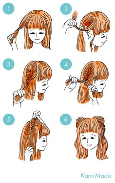 65 Easy And Cute Hairstyles That Can Be Done In Just A Few Minutes 65 einfache und süße Frisuren, di Cute Quick Hairstyles, Kawaii Hairstyles, Braided Hairstyles, Hair Threading, Short Hair Styles, Natural Hair Styles, Hair Arrange, Ombre Hair, Hair Looks