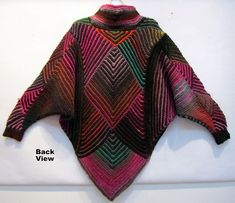 Ravelry: Project Gallery for Miterrific Poncho V.2 pattern by Melody Johnson FREE PATTERN ♥ >2750 FREE patterns to knit ♥ GO TO: pinterest.com/.... for more than 2750 FREE patterns to KNIT