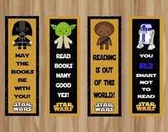 Star Wars Bookmarks Star Wars Favor Star Wars by GraphicsByColton Star Wars Birthday, Star Wars Party, Birthday Wishes, Birthday Kids, Star Wars Classroom, Printable Star, Star Wars Books, Star Wars Kids, Stars