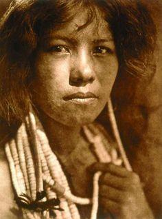 1924 Edward S. Curtis photo entitled:  A Pomo Girl