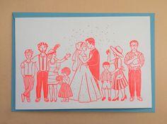 Letterpress Hochzeitskarte Karte zur Hochzeit Buchdruck