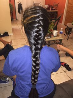 My grandmas the best hair stylist. French Braid Hairstyles, Long Hairstyle, Best Hair Stylist, Thick Braid, Braids For Long Hair, Beautiful Long Hair, Ponytail, My Hair, Stylists