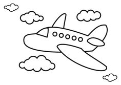 Airplane Coloring Pages Airplanes Pictures For Kids – Viewing Gallery For – Easy Airplanes Wallpaper