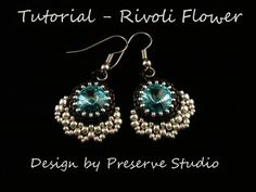 Rivoli Beaded Earrings Rivoli Pattern Beading by PreserveStudio