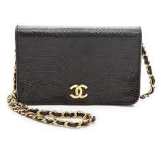 Vintage lizard handbag from Chanel.